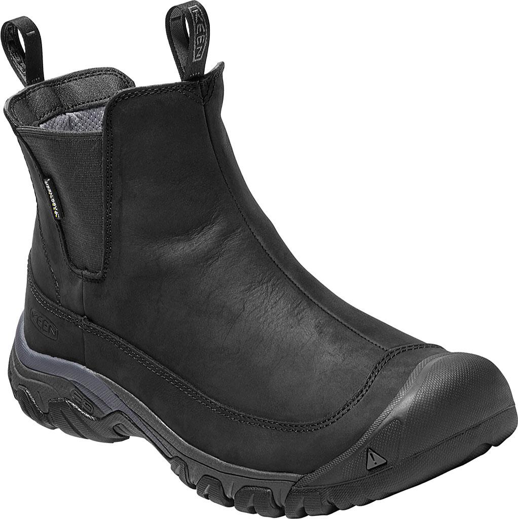 Men's KEEN Anchorage III Waterproof Chelsea Boot, Black/Raven, large, image 1