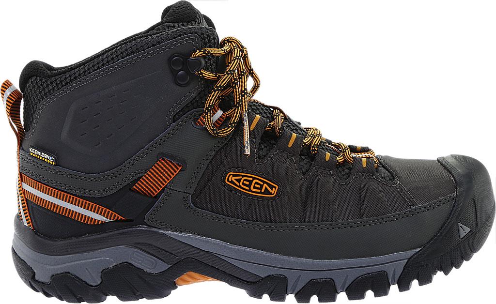 Men's KEEN Targhee Explorer Mid Waterproof Boot, Raven/Inca Gold, large, image 2