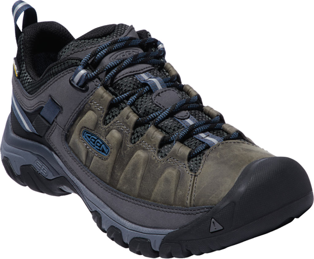 Men's KEEN Targhee III Waterproof Trail Shoe, Steel Grey/Captains Blue, large, image 1