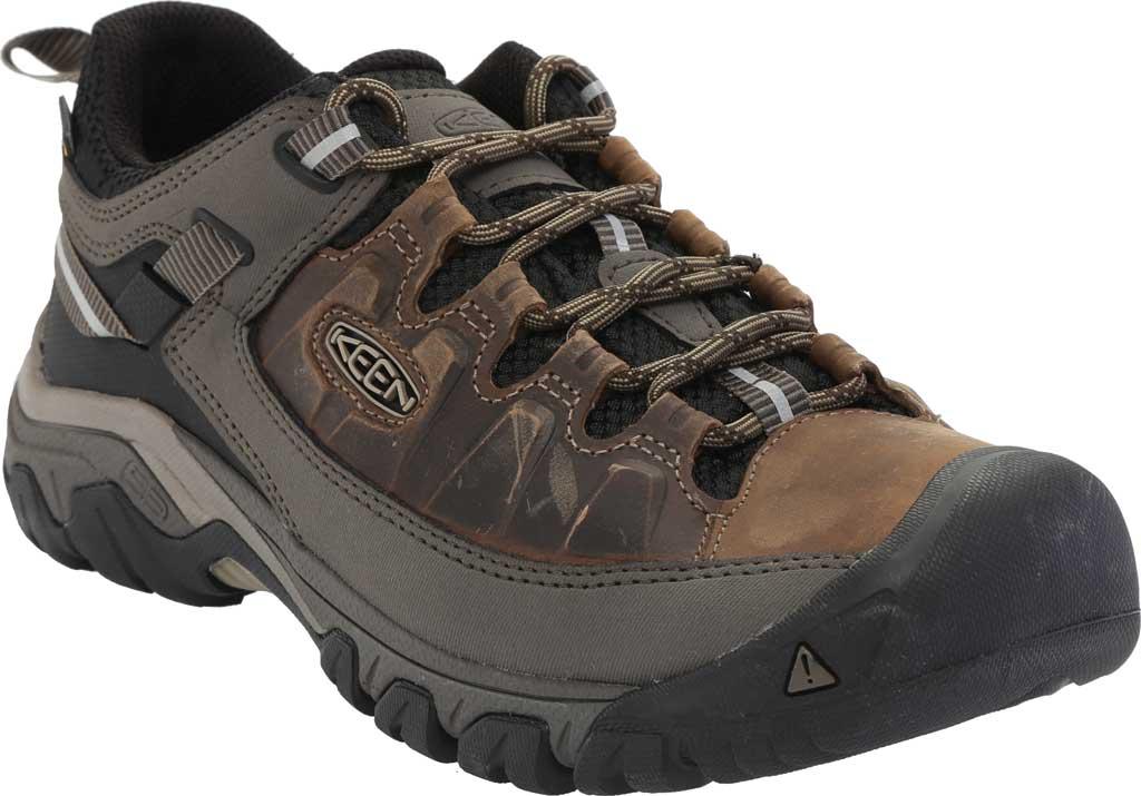 Men's KEEN Targhee III Waterproof Trail Shoe, Bungee Cord/Black/Brown, large, image 1