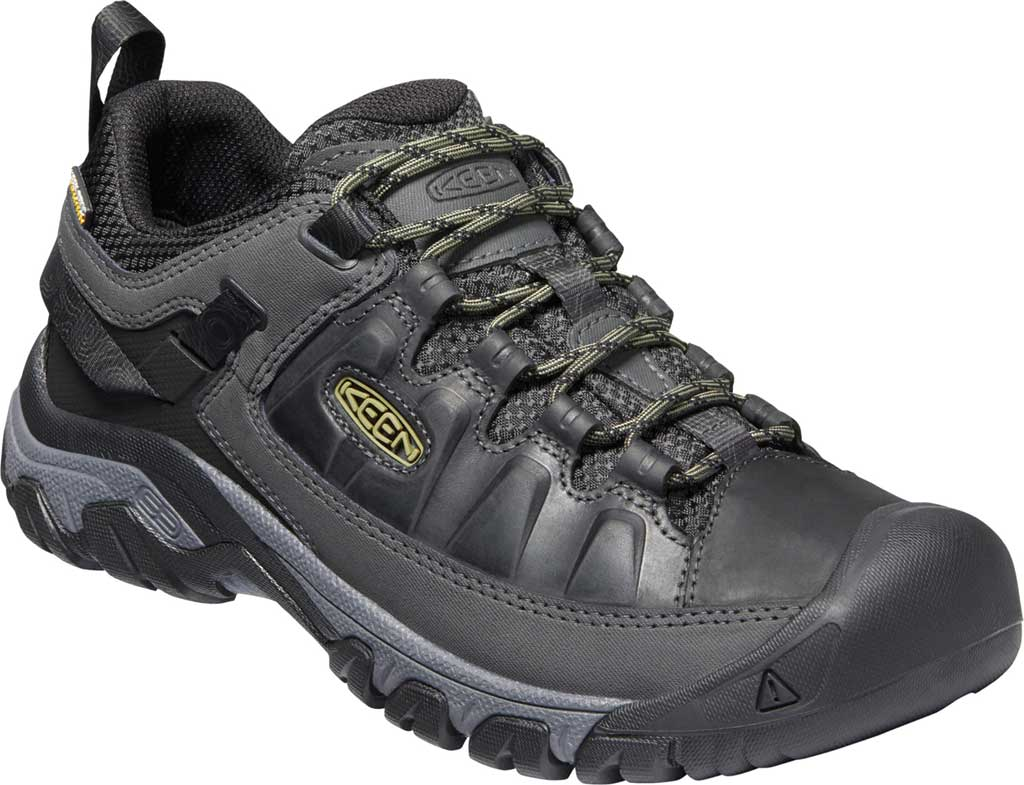 Men's KEEN Targhee III Waterproof Trail Shoe, Black/Olive Drab, large, image 1