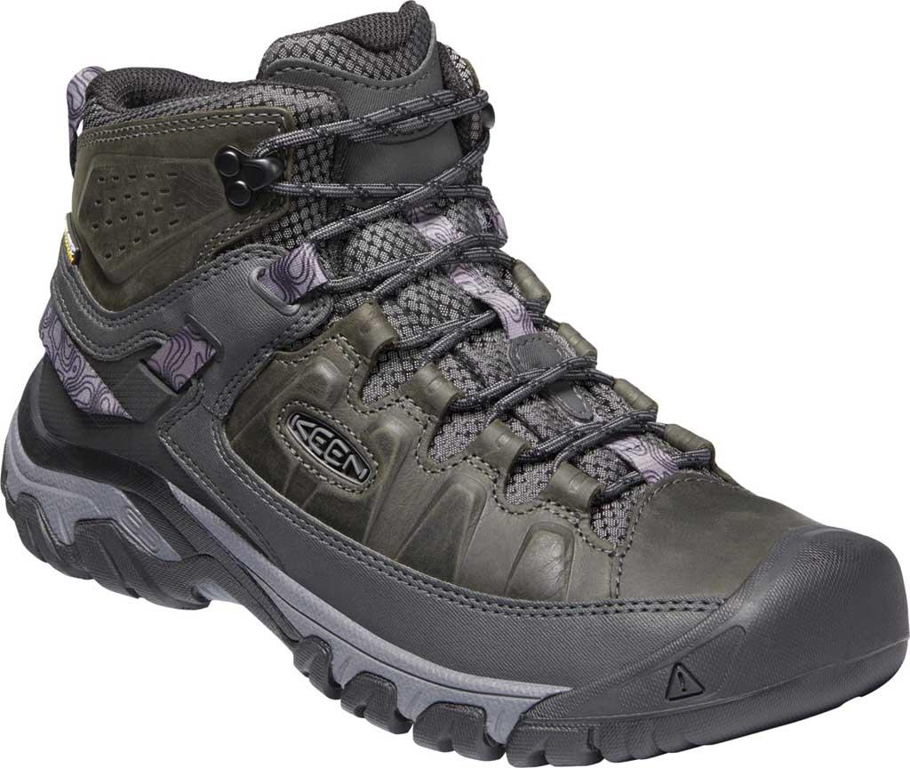 Men's KEEN Targhee III Mid Waterproof Hiking Boot, Magnet/Black, large, image 1