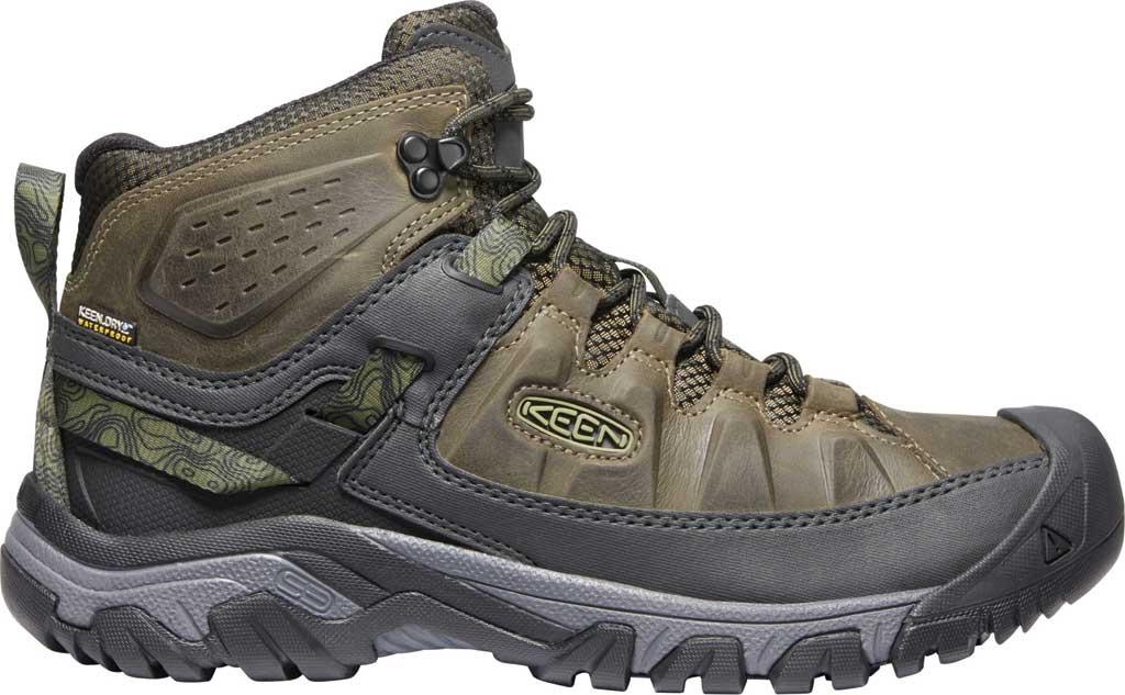 Men's KEEN Targhee III Mid Waterproof Hiking Boot, Dark Olive/Black, large, image 2