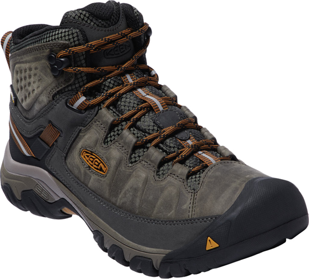 Men's KEEN Targhee III Mid Waterproof Hiking Boot, Black Olive/Golden Brown, large, image 1