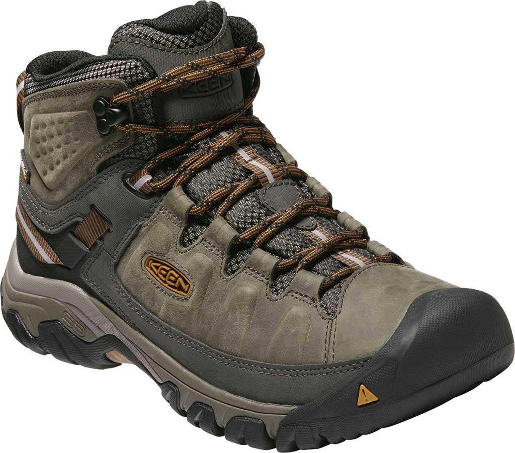 Men's Keen Targhee III Mid Waterproof Hiking Boot, Black Olive/Golden Brown/Grey, large, image 1