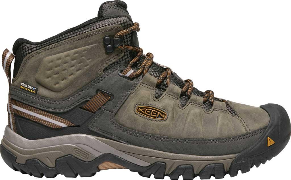 Men's Keen Targhee III Mid Waterproof Hiking Boot, Black Olive/Golden Brown/Grey, large, image 2