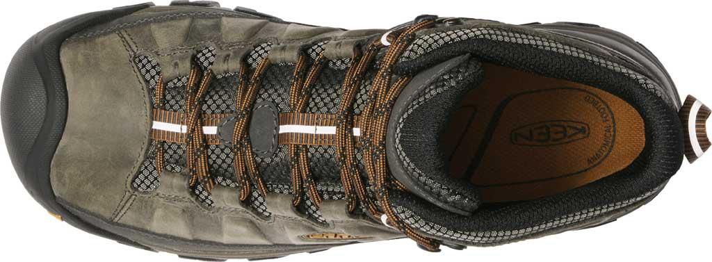 Men's Keen Targhee III Mid Waterproof Hiking Boot, Black Olive/Golden Brown/Grey, large, image 3