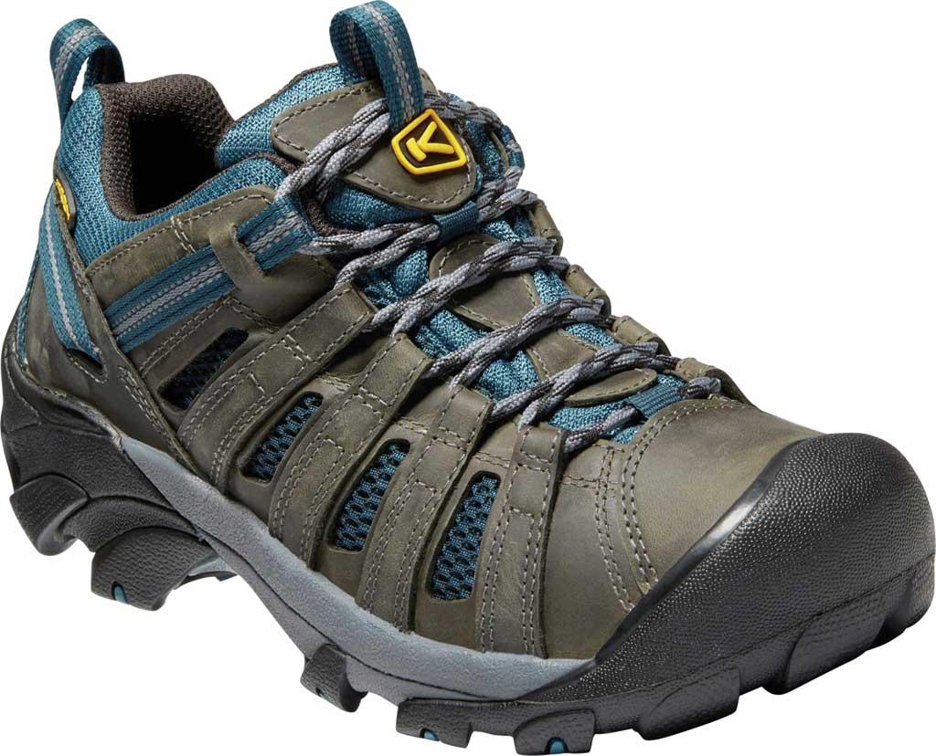 Men's KEEN Voyageur Leather Hiking Shoe, Alcatraz/Legion Blue, large, image 1