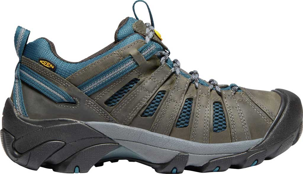 Men's KEEN Voyageur Leather Hiking Shoe, Alcatraz/Legion Blue, large, image 2