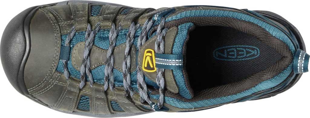 Men's KEEN Voyageur Leather Hiking Shoe, Alcatraz/Legion Blue, large, image 3