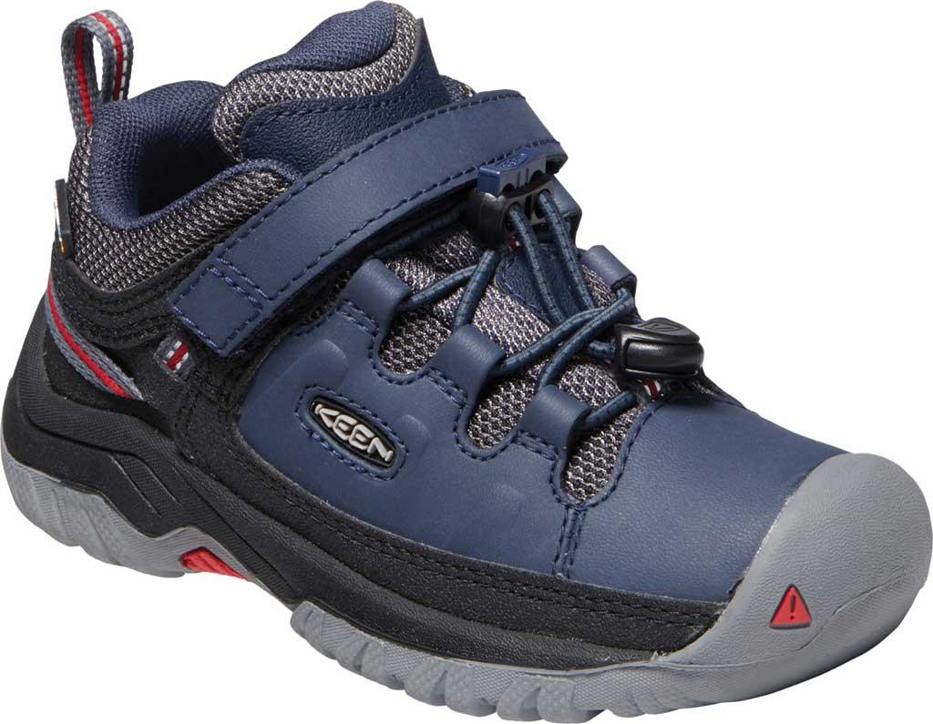 Children's Keen Targhee Low Waterproof Sneaker - Little Kid, Blue Nights/Red Carpet, large, image 1