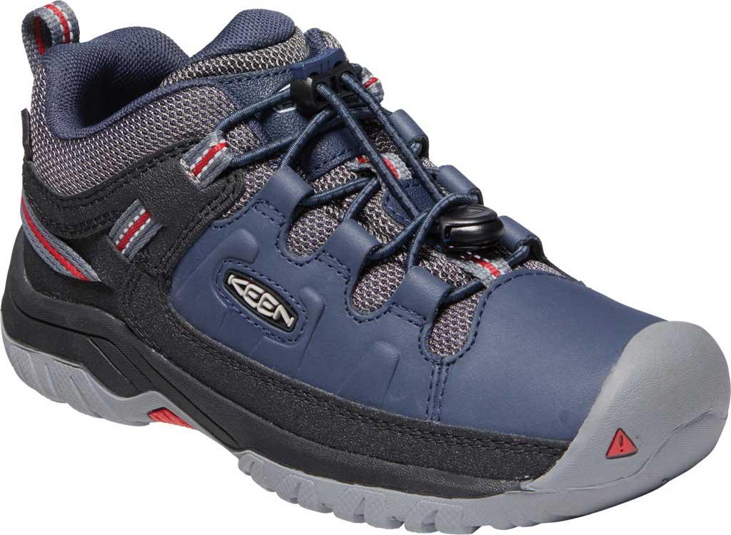 Children's KEEN Targhee Low Waterproof Sneaker - Big Kid, Blue Nights/Red Carpet, large, image 1