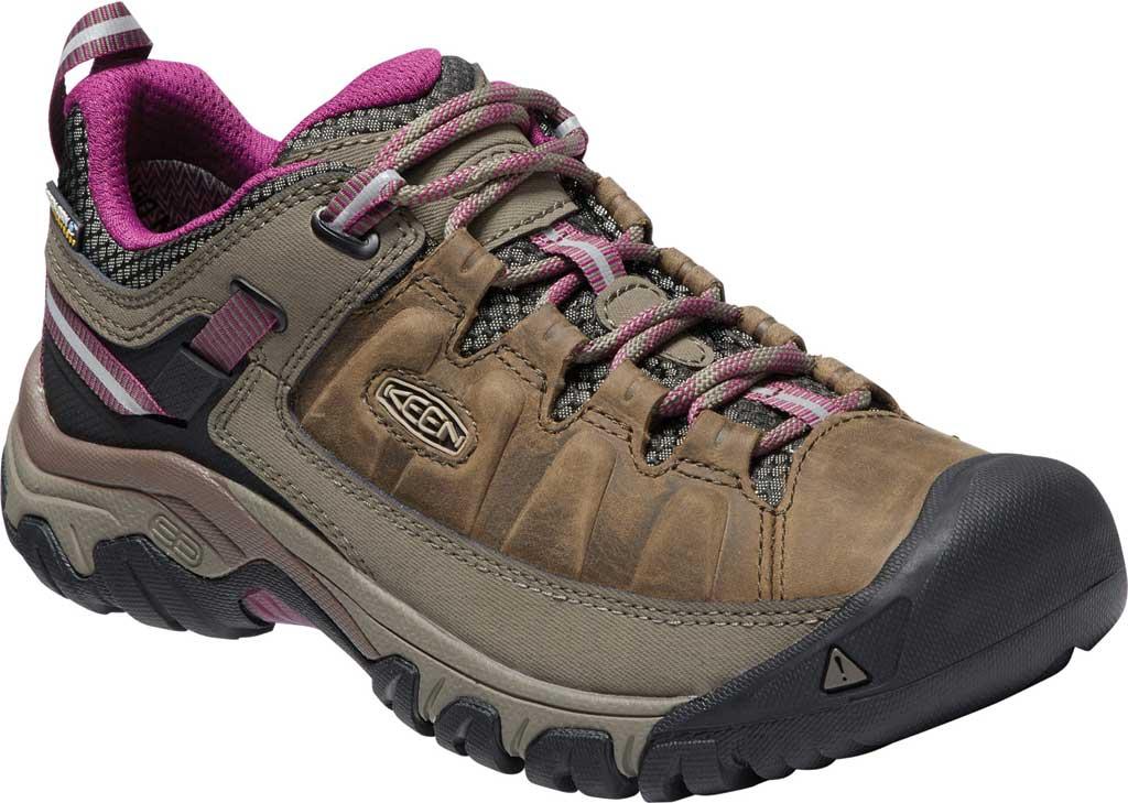 Women's KEEN Targhee III Waterproof Sneaker, Weiss/Boysenberry, large, image 1