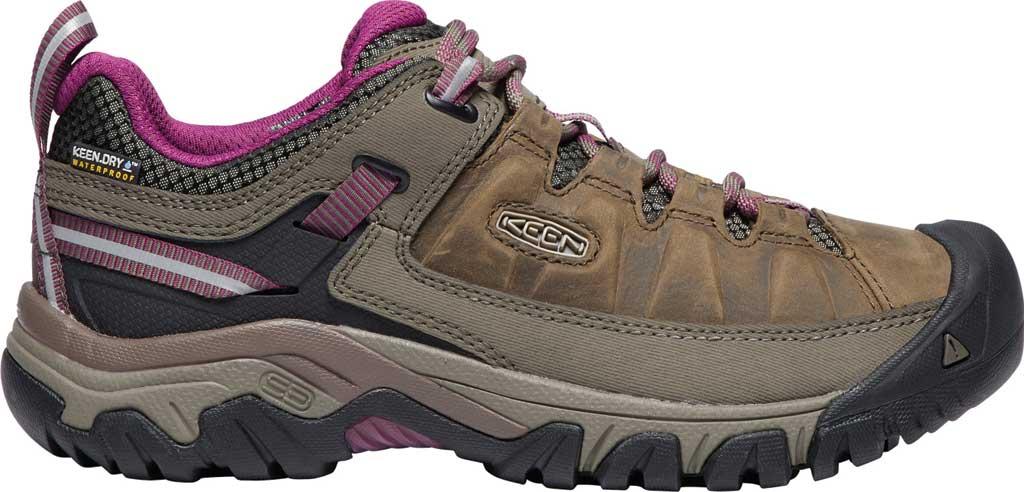 Women's KEEN Targhee III Waterproof Sneaker, Weiss/Boysenberry, large, image 2