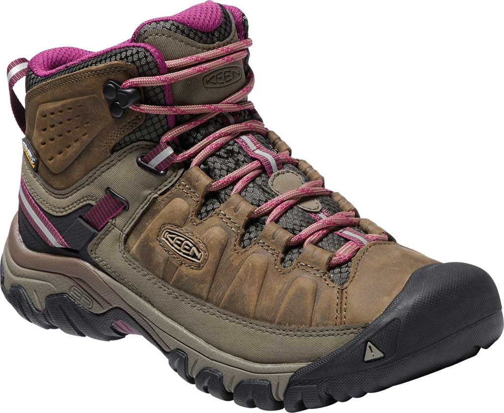Women's KEEN Targhee III Mid Waterproof Hiking Boot, Weiss/Boysenberry, large, image 1
