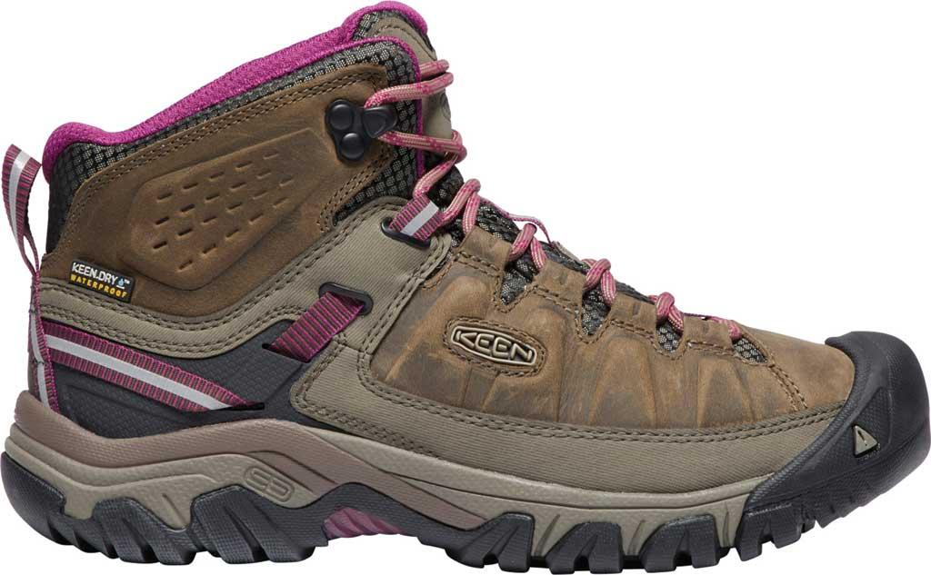 Women's KEEN Targhee III Mid Waterproof Hiking Boot, Weiss/Boysenberry, large, image 2