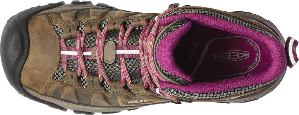 Women's KEEN Targhee III Mid Waterproof Hiking Boot, Weiss/Boysenberry, large, image 3