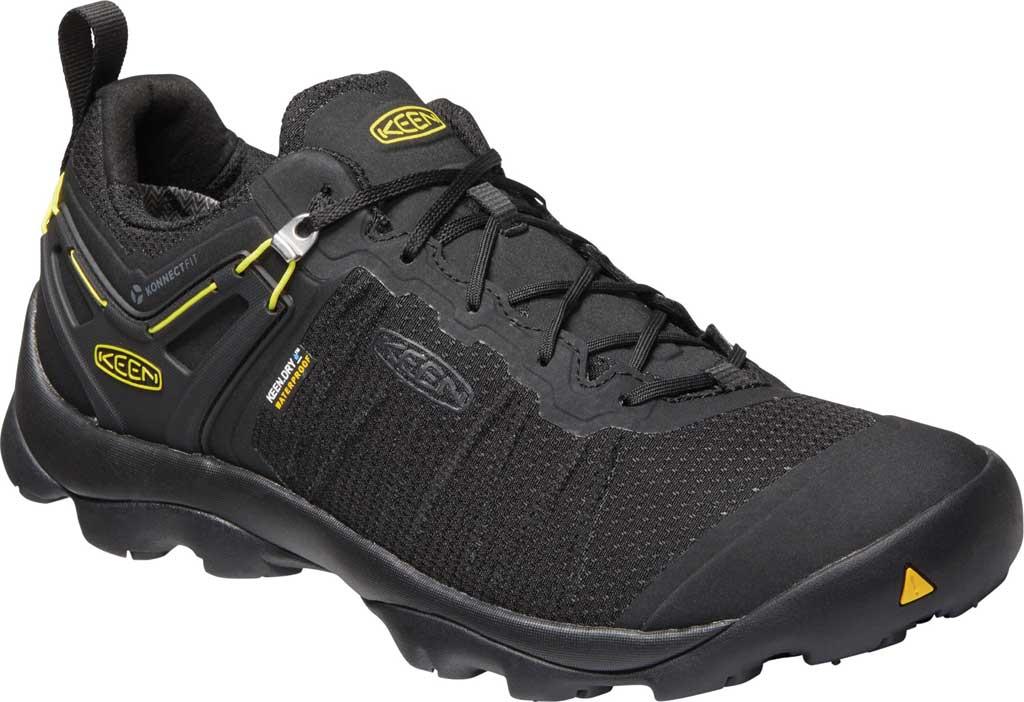 Men's KEEN Venture Waterproof Hiking Shoe, Black/Vibrant Yellow, large, image 1