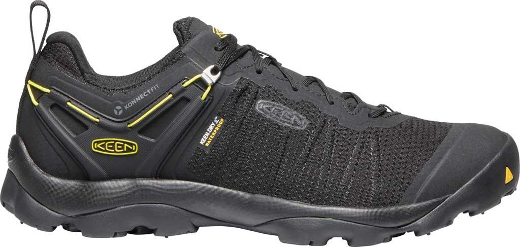 Men's KEEN Venture Waterproof Hiking Shoe, Black/Vibrant Yellow, large, image 2