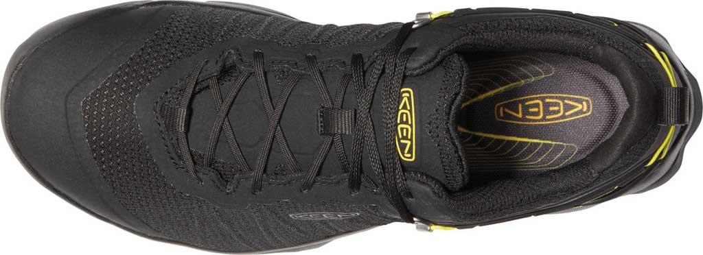Men's KEEN Venture Waterproof Hiking Shoe, Black/Vibrant Yellow, large, image 3