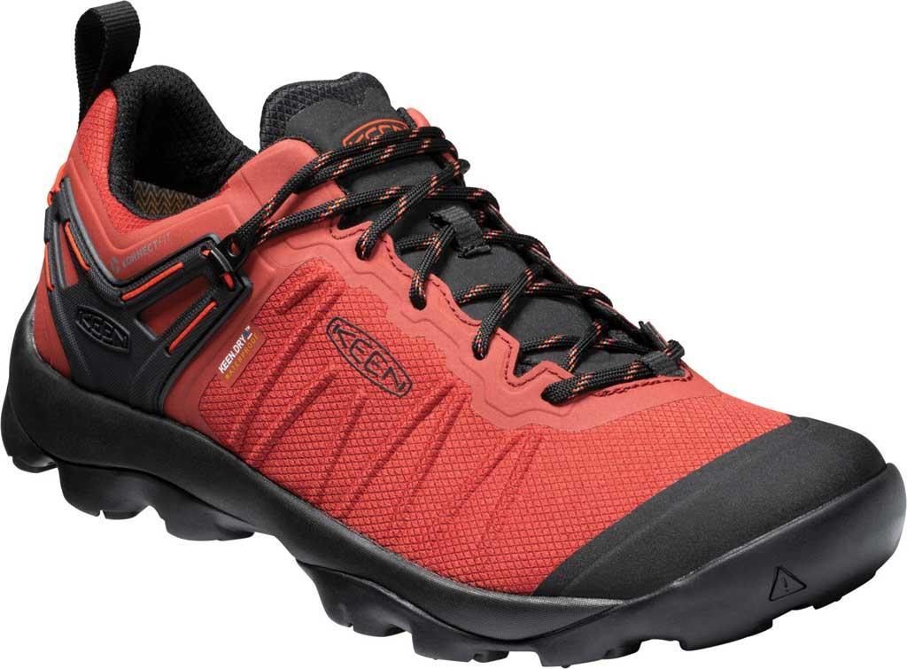 Men's KEEN Venture Waterproof Hiking Shoe, Ketchup/Black, large, image 1