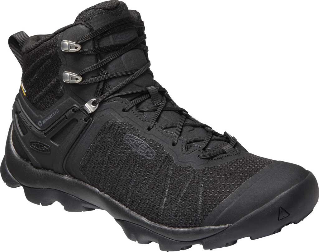 Men's KEEN Venture Mid Waterproof Hiking Boot, Black/Black, large, image 1