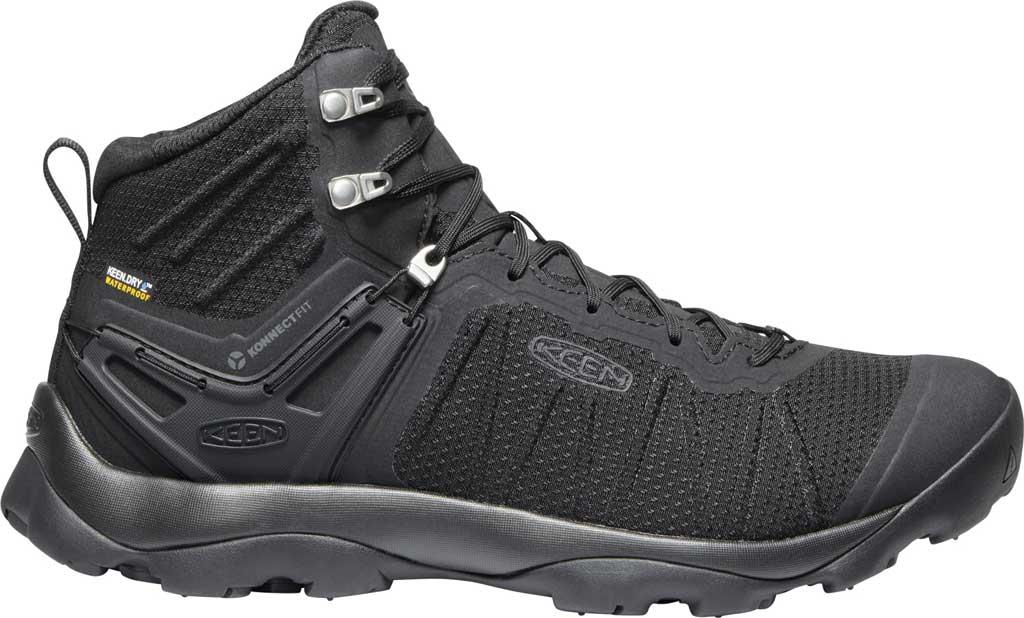 Men's KEEN Venture Mid Waterproof Hiking Boot, Black/Black, large, image 2