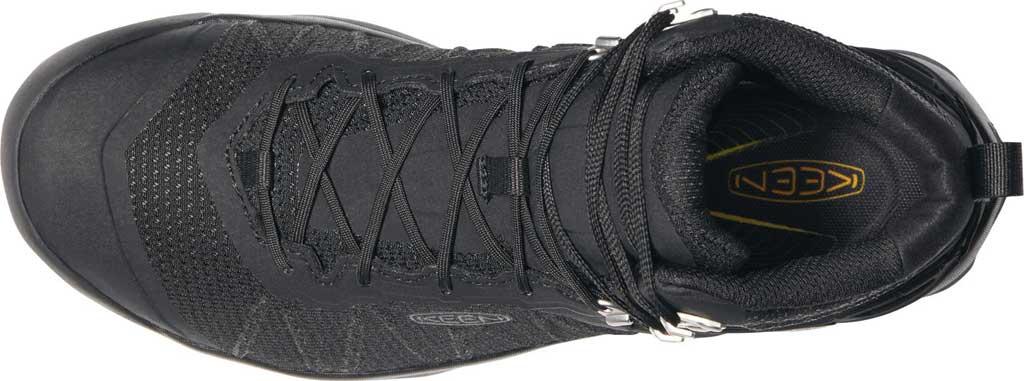 Men's KEEN Venture Mid Waterproof Hiking Boot, Black/Black, large, image 3