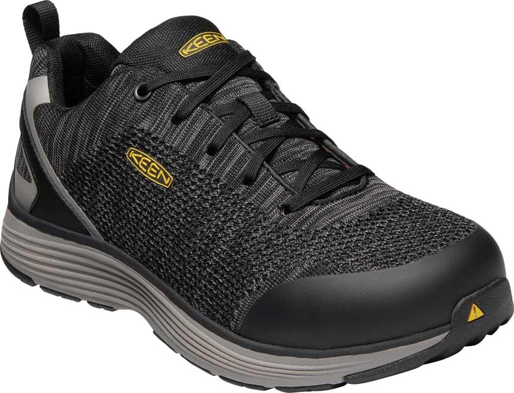 Men's KEEN Utility Sparta Waterproof Shoe, Black/Grey Flannel Leather, large, image 1