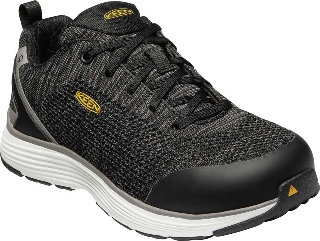 Women's KEEN Utility Sparta ESD Waterproof Shoe, Black/Grey Flannel Synthetic, large, image 1