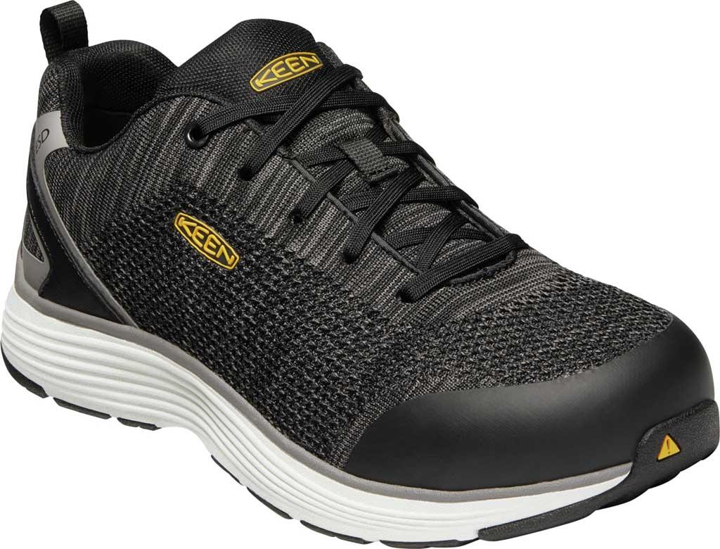 Men's KEEN Utility Sparta ESD Waterproof Shoe, Black/Grey Flannel Synthetic, large, image 1