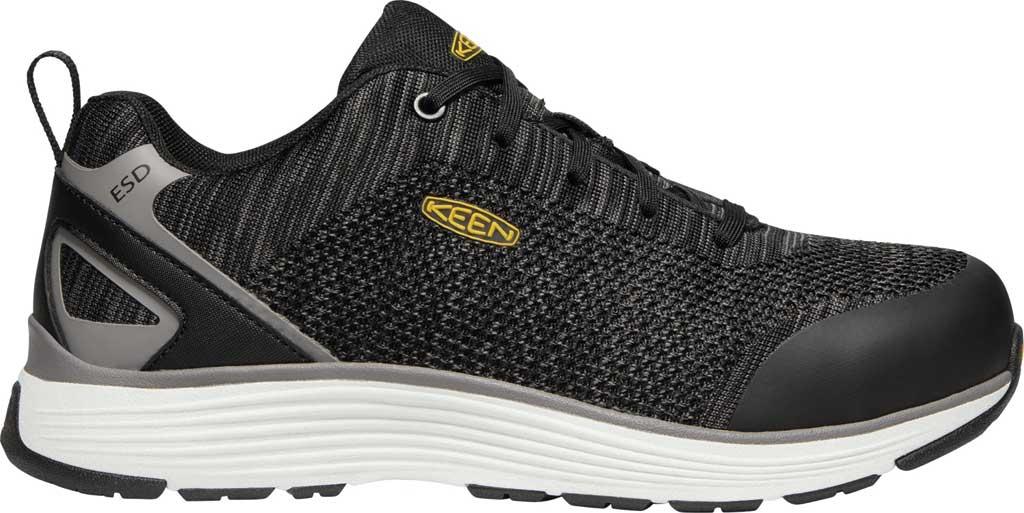 Men's KEEN Utility Sparta ESD Waterproof Shoe, Black/Grey Flannel Synthetic, large, image 2
