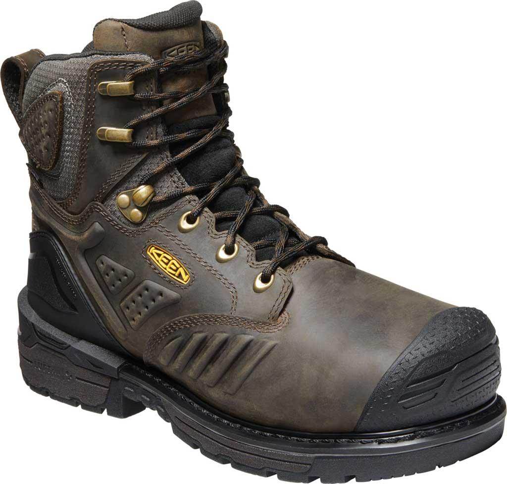 "Men's KEEN Utility Philadelphia 6"" 400G Waterproof Boot, Cascade Brown/Black Leather, large, image 1"