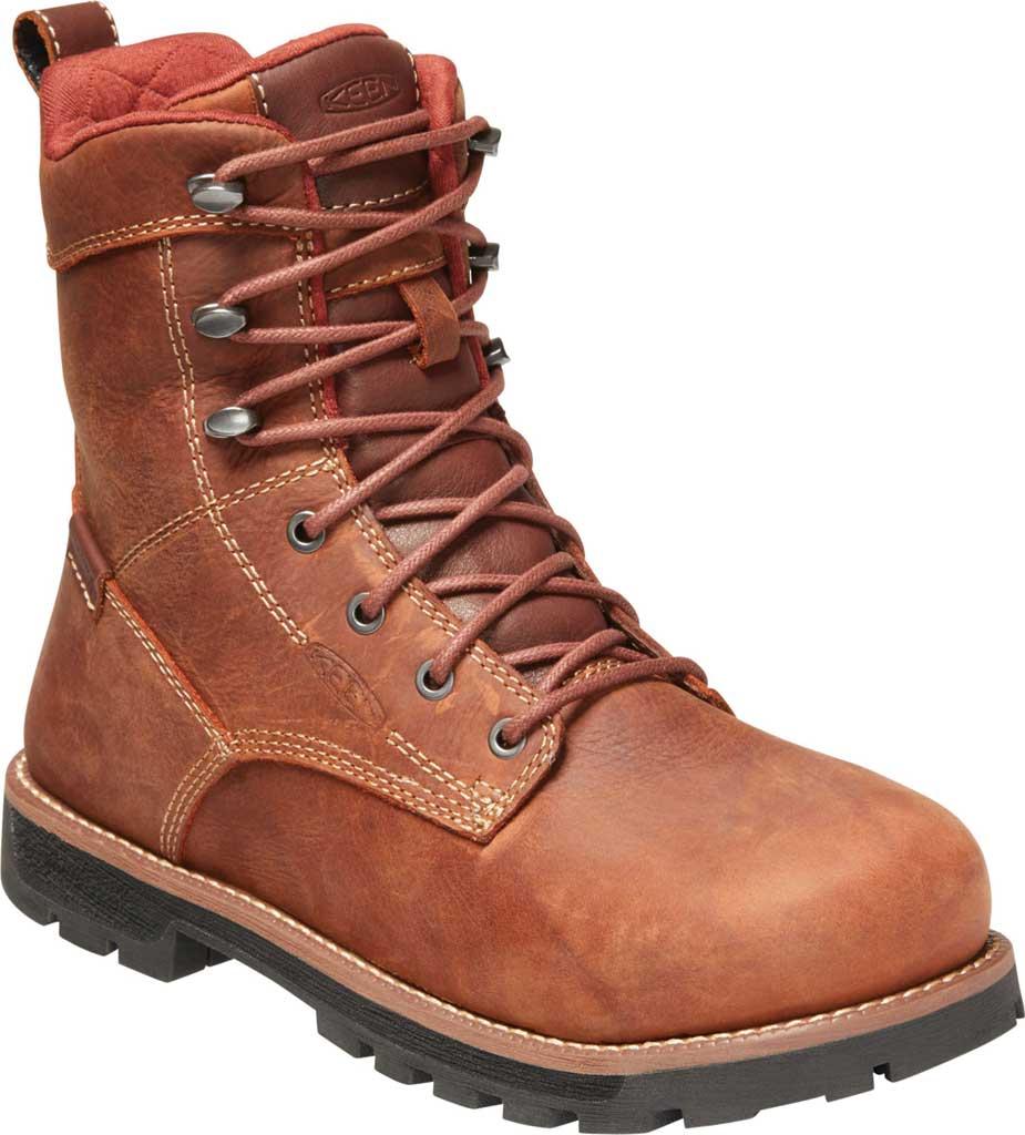 "Women's KEEN Utility Seattle 8"" Waterproof Boot, Gingerbread/Black Leather, large, image 1"