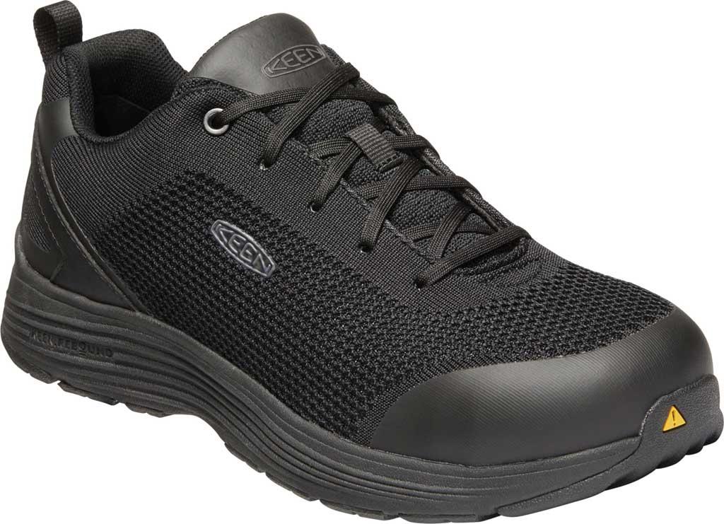 Men's KEEN Utility Sparta Work Shoe, Black/Black Textile, large, image 1