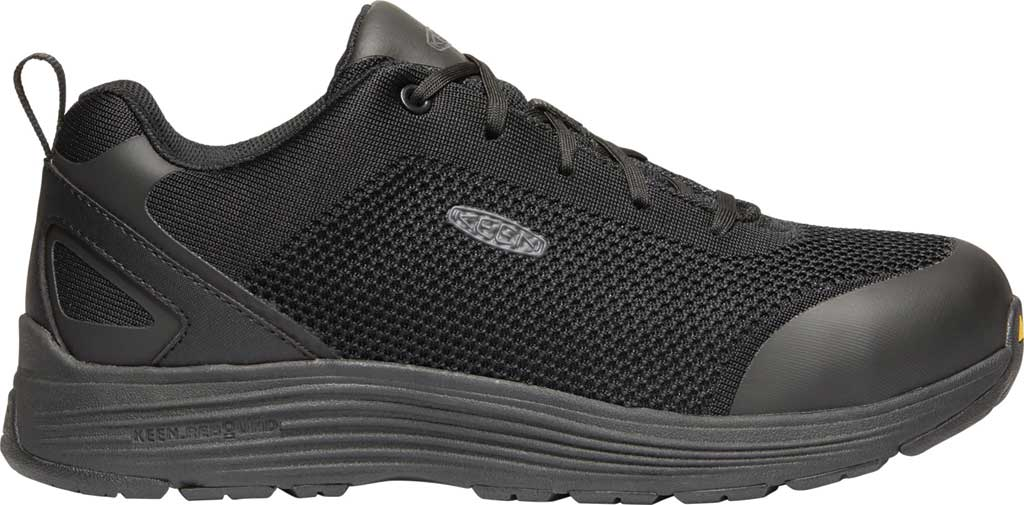 Men's KEEN Utility Sparta Work Shoe, Black/Black Textile, large, image 2