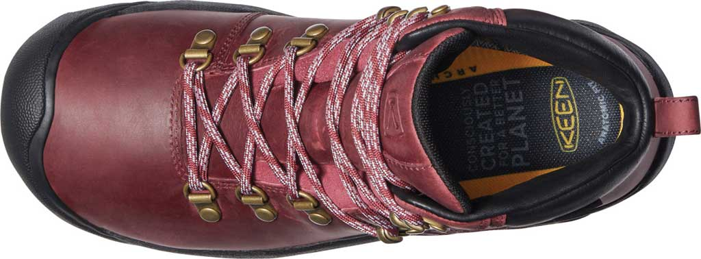 Women's Keen Pyrenees Waterproof Boot, Tibetan Red/Black, large, image 3