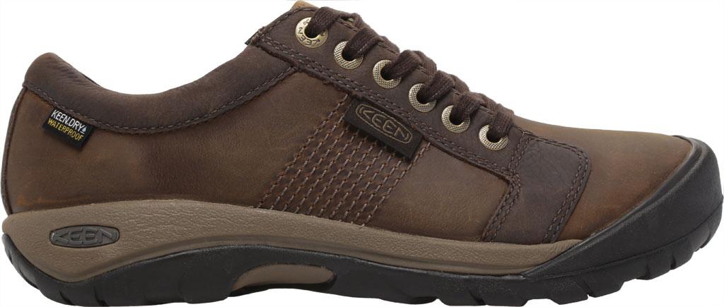 Men's KEEN Austin Waterproof Shoe, Chocolate Brown, large, image 2