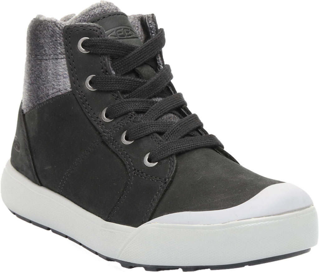 Women's KEEN Elena Mid High Top, Black/Drizzle, large, image 1