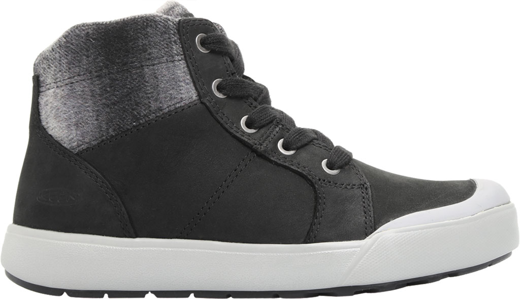 Women's KEEN Elena Mid High Top, Black/Drizzle, large, image 2