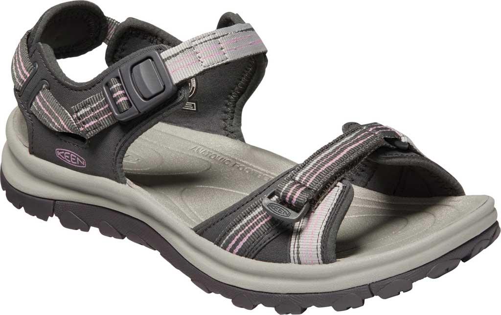 Women's KEEN Terradora II Trail Running Sandal, Dark Grey/Dawn Pink, large, image 1