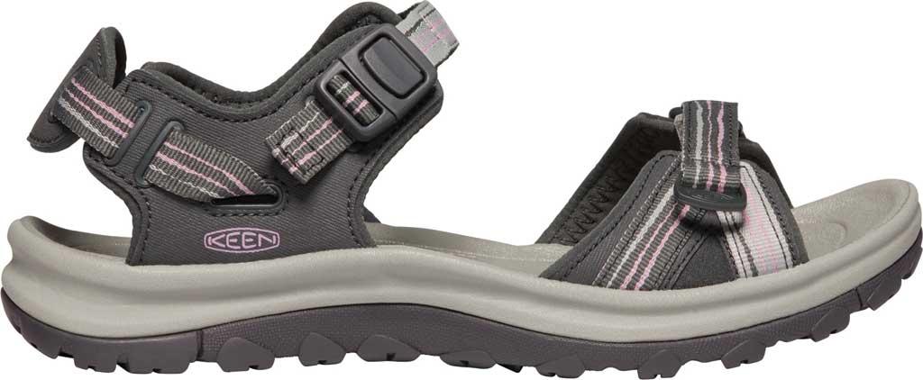 Women's KEEN Terradora II Trail Running Sandal, Dark Grey/Dawn Pink, large, image 2