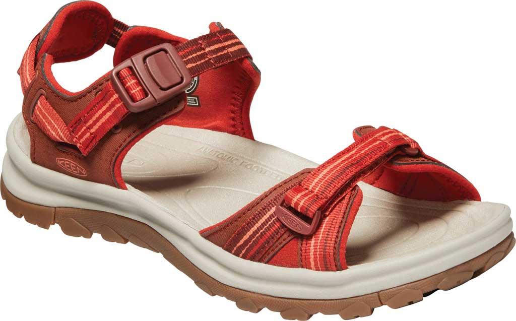 Women's KEEN Terradora II Trail Running Sandal, Dark Red/Coral, large, image 1