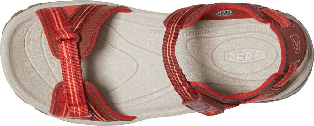Women's KEEN Terradora II Trail Running Sandal, Dark Red/Coral, large, image 3