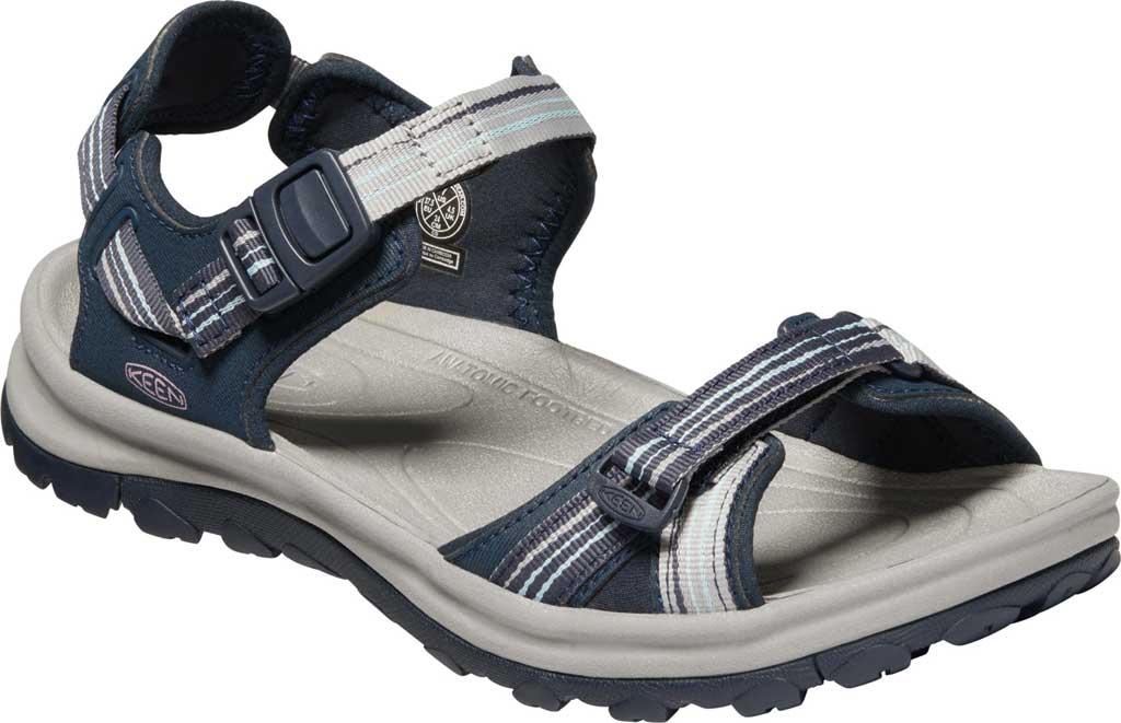 Women's KEEN Terradora II Trail Running Sandal, Navy/Light Blue, large, image 1