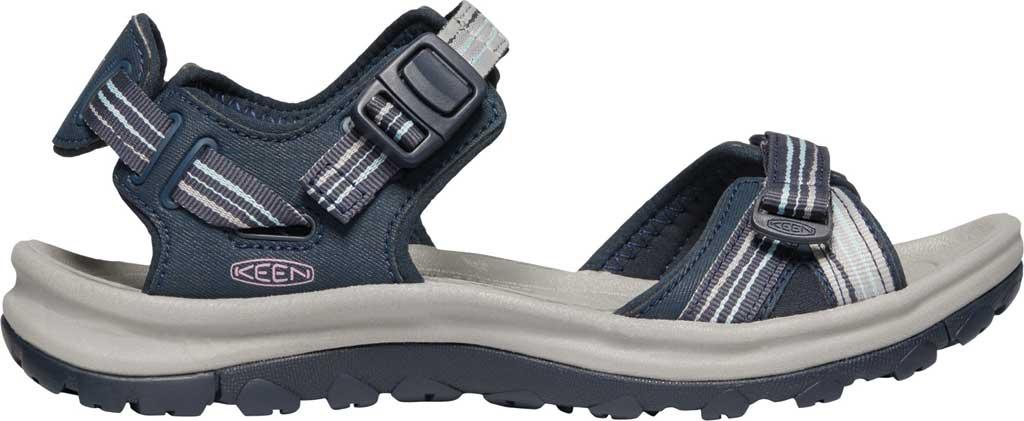 Women's KEEN Terradora II Trail Running Sandal, Navy/Light Blue, large, image 2