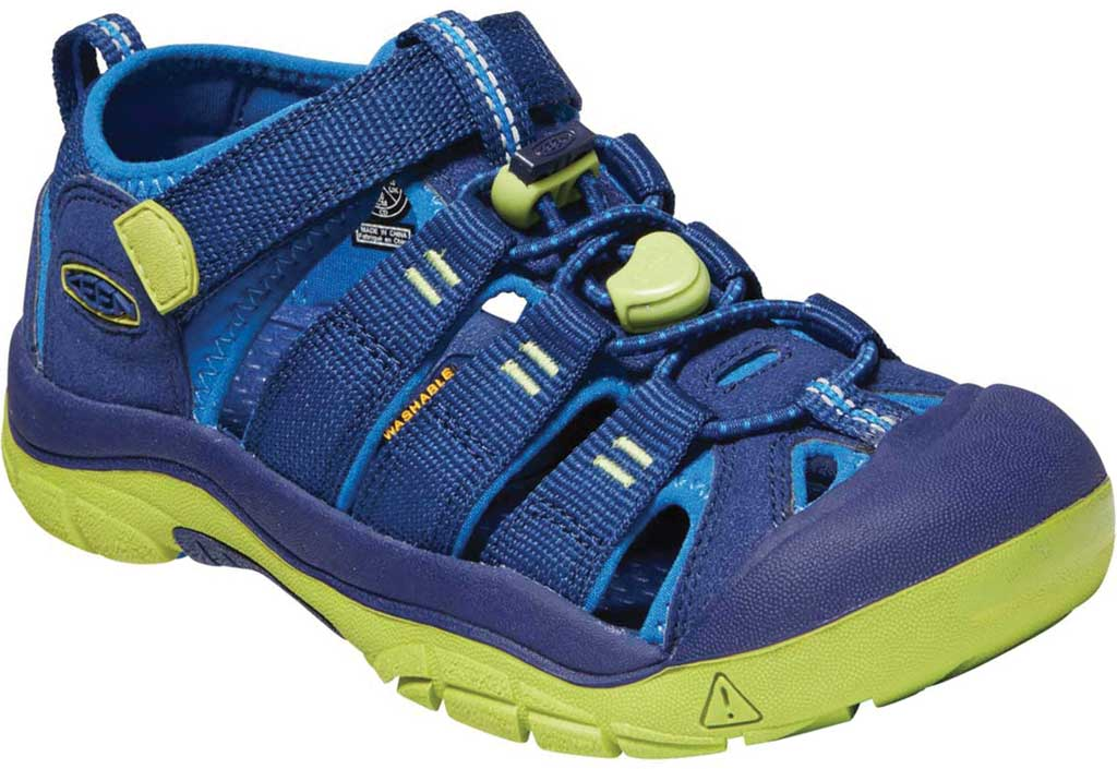 Children's Keen Newport H2 Fisherman Sandal - Youth, Blue Depths/Chartreuse, large, image 1