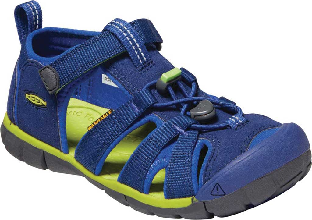 Children's Keen Seacamp II CNX Fisherman Sandal - Youth, Blue Depths/Chartreuse, large, image 1