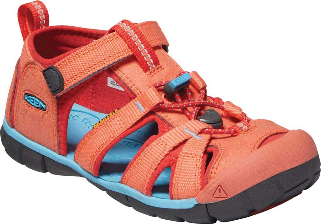 Children's Keen Seacamp II CNX Fisherman Sandal - Youth, Coral/Poppy Red, large, image 1