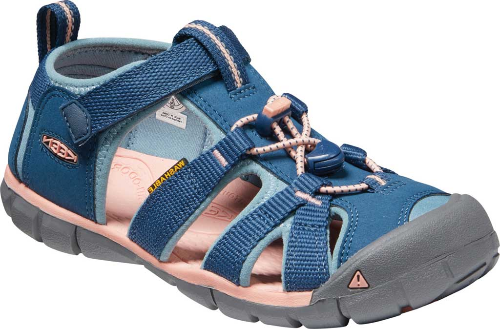 Children's Keen Seacamp II CNX Fisherman Sandal - Youth, Tea Rose/Peach Pearl, large, image 1